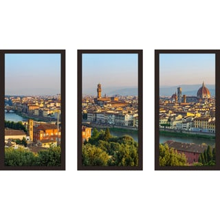 """Florence, Italy"" Framed Plexiglass Wall Art Set of 3"