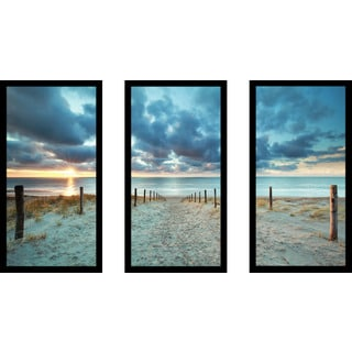 """Storms Coming"" Framed Plexiglass Wall Art Set of 3"