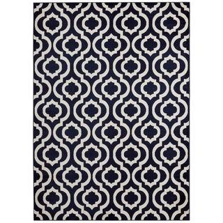 Jasmin Collection Moroccan Blue Trellis Area Rug (5'3x7'3)