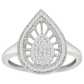 Trillion Designs 10k White Gold 1/5ct TDW Diamond Bridal Set (H-I, I1-I2)