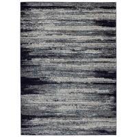 Jasmin Collection Blue/Sage/Beige Polypropylene Striped Area Rug - 5'3 x 7'3