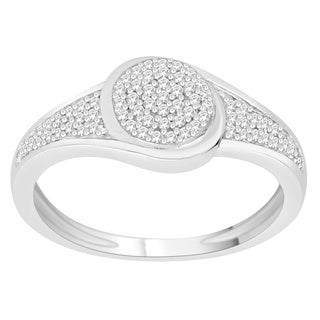 Trillion Designs 10k White Gold 1/6ct TDW Diamond Bridal Set (H-I, I1-I2)