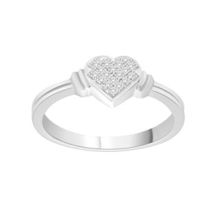 Trillion Designs S925 Sterling Silver Diamond Accent Engagement Ring (H-I, I1-I2)