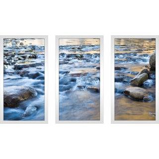 """""""Water"""" Framed Plexiglass Wall Art Set of 3"""