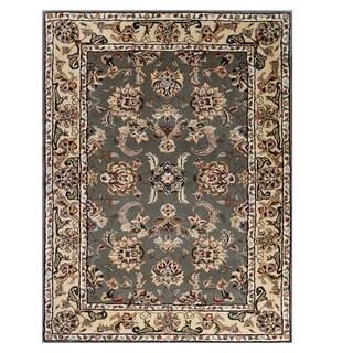 Trastavere Sage/Cream Wool/Silk Hand-tufted Rug (3' x 4'6)