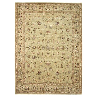 Trastavere Tan Wool and Silk Hand-Tufted Rug (7'9'x 9'9)