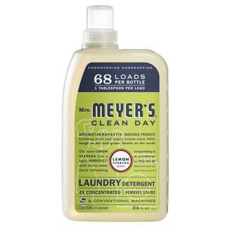 Mrs Meyers 14650 34 Oz Lemon Verbena Laundry Detergent