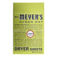 Mrs Meyers 14248 Lemon Verbena Dryer Sheets 80