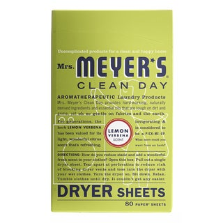 Mrs Meyers 14248 Lemon Verbena Dryer Sheets 80
