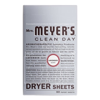 Mrs Meyers 14148 Lavender Dryer Sheets 80 Count
