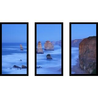 """The 12 Apostles"" Framed Plexiglass Wall Art Set of 3"