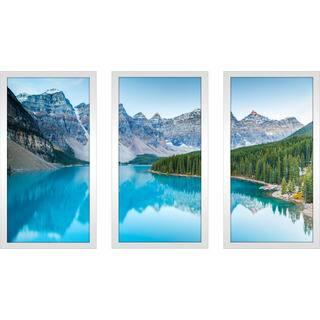 """""""Banff"""" Framed Plexiglass Wall Art Set of 3"""