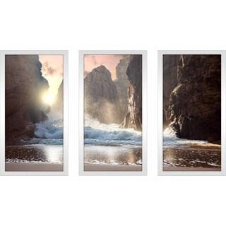 """""""Heavenly Wonders"""" Framed Plexiglass Wall Art Set of 3"""
