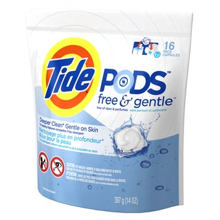 Tide 93829 Free & Clear 3-In-1 Tide Laundry Detergent Pods 16 Count