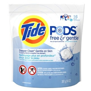 Link to Tide 93829 Free & Clear 3-In-1 Tide Laundry Detergent Pods 16 Count Similar Items in Laundry