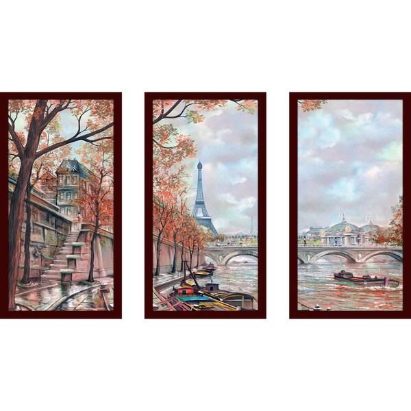 Picture Perfect InternationalGloomy Paris Framed Plexiglass Wall Art Set of 3