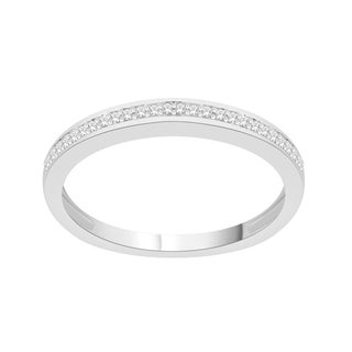 Trillion Designs 10k White Gold Diamond Accent Crossover Swirling Wedding Band (H-I, I1-I2)