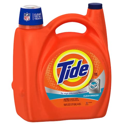 Tide 23066 150 Oz Clean Breeze Scent High Efficiency Liquid Detergent