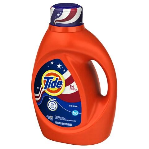 Tide 08886 100 Oz Orig Scent 2X High Efficiency Tide Liquid Detergent