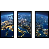 """""""Italy"""" Framed Plexiglass Wall Art Set of 3"""