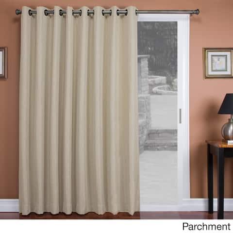 """Tacoma Double-Blackout Grommet Patio Curtain Panel - 106""""w x 84""""l - 106""""w x 84""""l"""