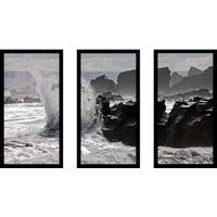 """Splash"" Framed Plexiglass Wall Art Set of 3"