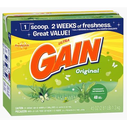Gain 84932 45 Oz Original Scent Gain Ultra Powder Detergent