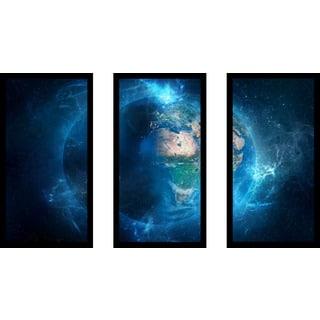 """Wonders of Earth"" Framed Plexiglass Wall Art Set of 3"