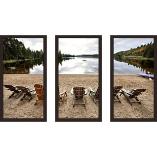 """Cottage Country 3"" Framed Plexiglass Wall Art Set of 3"