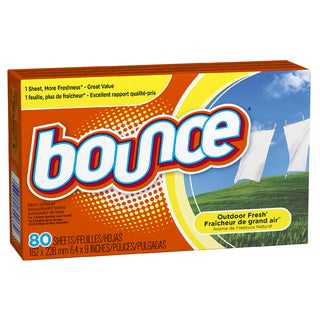 Bounce 80068 Outdoor Fresh Scent Fabric Softener Sheets 80 Count