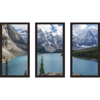 """""""Banff 3"""" Framed Plexiglass Wall Art Set of 3"""