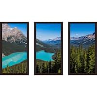 """""""Banff 2"""" Framed Plexiglass Wall Art Set of 3"""