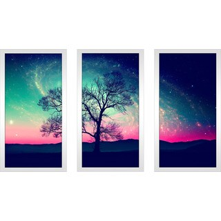 """The Night Sky"" Framed Plexiglass Wall Art Set of 3"