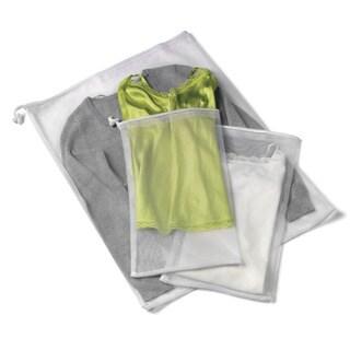 Honey Can Do LBG-01148 3 Piece White Mesh Wash Bag Set