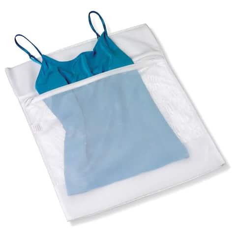 """Honey Can Do LBG-01145 12"""" X 18"""" White Mesh Lingerie Wash Bag"""
