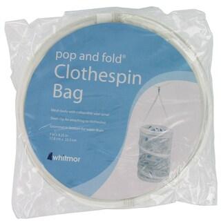 Whitmor 6233-1258 White Mesh Pop & Fold® Clothespin Bag