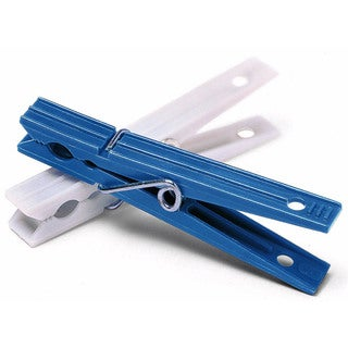 Whitmor 6171-919 50 Count Blue & White Plastic Clothespins