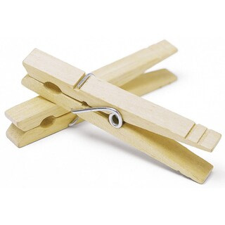 Whitmor 6026-868 100 Count Natural Wood Clothespins