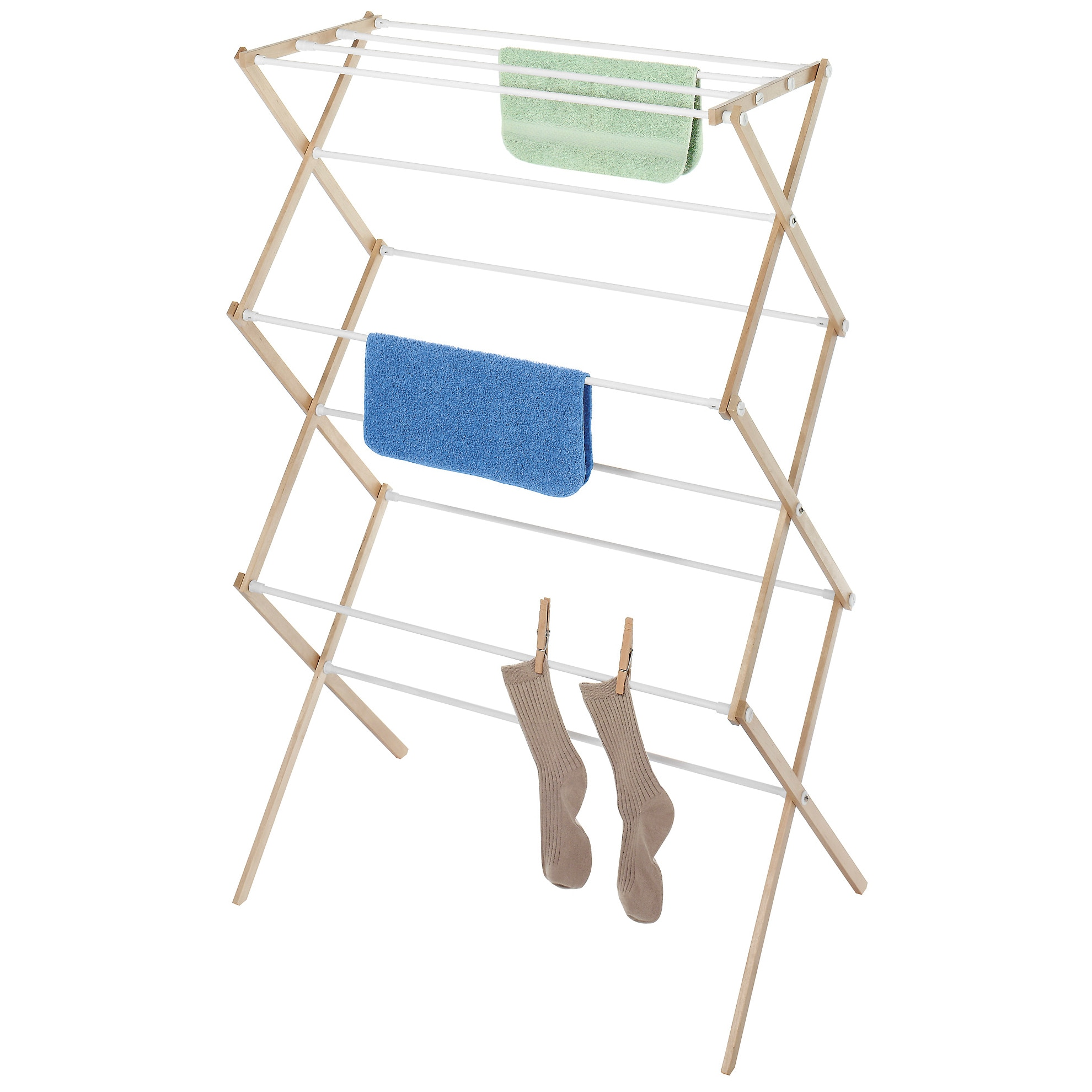 Whitmor Mfg Co 6026-2415 Natural Wood Clothes Drying Rack...