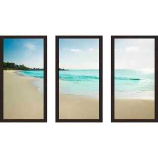 """""""Beachy"""" Framed Plexiglass Wall Art Set of 3"""