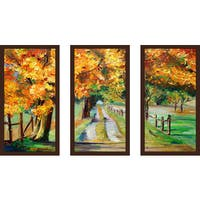 """Forest Path"" Framed Plexiglass Wall Art Set of 3"