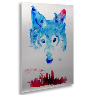 Robert Farkas 'The Guardian' Floating Brushed Aluminum Art