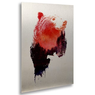 Robert Farkas 'Love Forever' Floating Brushed Aluminum Art