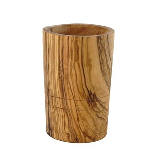 Le Souk Olivique Olive Wood Utensil Holder (Tunisia)