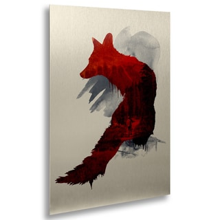 Robert Farkas 'Bad Memories' Floating Brushed Aluminum Art