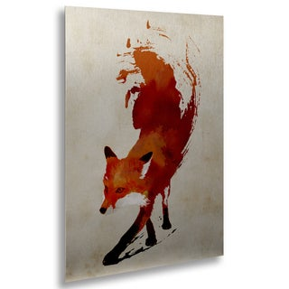 Robert Farkas 'Vulpes Vulpes' Floating Brushed Aluminum Art