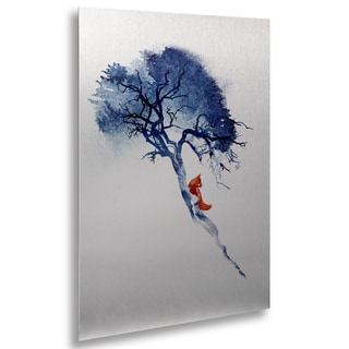 Robert Farkas 'There's No Way Back' Floating Brushed Aluminum Art
