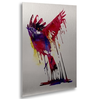 Robert Farkas 'The Great Emerge' Floating Brushed Aluminum Art