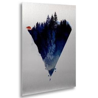 Robert Farkas 'Near To The Edge' Floating Brushed Aluminum Art