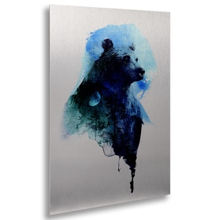 Robert Farkas 'Best Friends Forever' Floating Brushed Aluminum Art